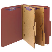 Smead 14079 SafeSHIELD Letter Size Classification Folder with 2 Pockets - 10/Box