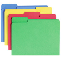 Smead 11951 WaterShed CutLess Letter Size File Folder - Standard Height with 1/3 Cut Assorted Tab, Assorted Colors - 100/Box