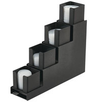 Vollrath VL-4 Traex Countertop 4-Column Black Lid Holder
