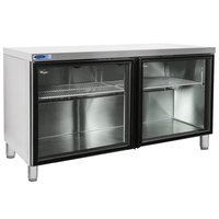 Nor-Lake NLURG60A-013 AdvantEDGE 60 inch Undercounter Refrigerator with 6 inch Legs and Glass Doors