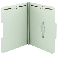 Smead 15003 100% Recycled Letter Size Fastener Folder with 2 Fasteners, 1 inch Expansion - 25/Box
