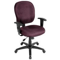 Eurotech FT4547-AT31 Racer Street Series Burgundy Mid Back Swivel Office Chair