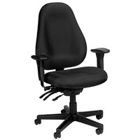 Eurotech 1701-AT33 Slider Series Black Fabric Mid Back Swivel Office Chair