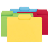 Smead 10401 SuperTab Heavyweight Letter Size File Folder - Standard Height with 1/3 Cut Assorted Tab, Assorted Color - 50/Box