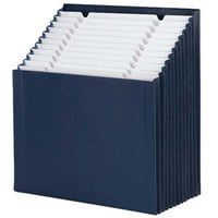 Smead 70211 12 1/4 inch x 13 5/8 inch Navy 12 Section Stadium File, Letter