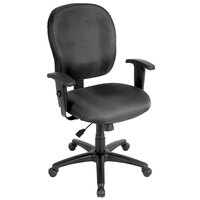 Eurotech FT4547-H5511 Racer Street Series Charcoal Mid Back Swivel Office Chair