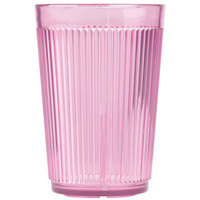 Carlisle 400855 Crystalon Stack-All 8.3 oz. Rose SAN Plastic Tumbler - 12/Case
