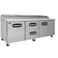 Nor-Lake NLPT93-004 AdvantEDGE 93 3/8 inch 2 Door 2 Drawer Refrigerated Pizza Prep Table