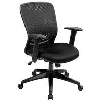 Eurotech MF272BLK Tetra Series Black Mid Back Swivel Office Chair
