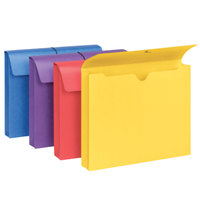 Smead 77291 11 3/4 inch x 9 1/2 inch Four Color Antimicrobial File Wallet with 2 inch Expansion   - 4/Pack