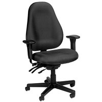 Eurotech 1701-H5511 Slider Series Charcoal Fabric Mid Back Swivel Office Chair