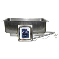 APW Wyott BM-30D Bottom Mount 12 inch x 20 inch High Performance Hot Food Well with Drain - 120V