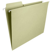 Smead 64082 FasTab 8 1/2 inch x 11 inch Moss Green 1/3 Cut Top Tab Hanging File Folder - Letter - 20/Box