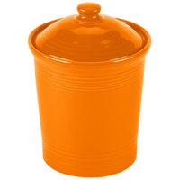 Homer Laughlin 571325 Fiesta Tangerine Small 1 Qt. Canister with Cover - 2/Case