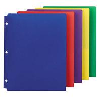 Smead 87939 Letter Size 2-Pocket Poly Pocket Folder - 3-Hole Punched, Assorted Color - 10/Pack