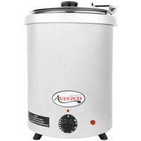 Avantco W300SS 6 Qt. Round Stainless Steel Countertop Food / Soup Kettle Warmer - 110V, 300W