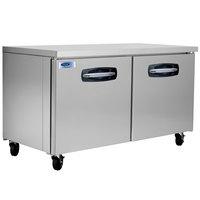 Nor-Lake NLUR60A AdvantEDGE 60 inch Undercounter Refrigerator - 16.2 Cu. Ft.