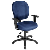Eurotech FT4547-AT30 Racer Street Series Navy Mid Back Swivel Office Chair