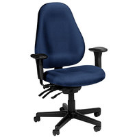 Eurotech 1701-AT30 Slider Series Navy Fabric Mid Back Swivel Office Chair