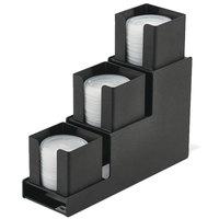 Vollrath VL-3 Traex® Countertop 3-Column Black Lid Holder