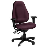 Eurotech 1701-AT31 Slider Series Burgundy Fabric Mid Back Swivel Office Chair