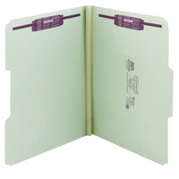 Smead 14931 SafeSHIELD Letter Size Fastener Folder with 2 Fasteners, 1 inch Expansion - 25/Box
