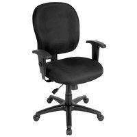 Eurotech FT4547-AT33 Racer Street Series Black Mid Back Swivel Office Chair
