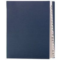 Smead 89282 Letter Size 20-Pocket Desk File/Sorter - A-Z Indexed, Navy Blue