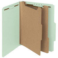 Smead 14023 100% Recycled Heavyweight Letter Size Classification Folder - 10/Box