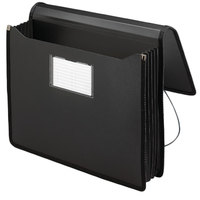 Smead 71500 Letter Size Poly Expansion Wallet - 5 1/4 inch Expansion with Flap and Cord Closure, Black