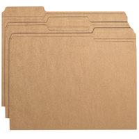 Smead 10734 Letter Size File Folder - Standard Height with Reinforced 1/3 Cut AssortedTab, Kraft - 100/Box