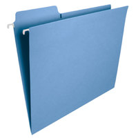 Smead 64099 FasTab 10 inch x 11 3/4 inch Blue 1/3 Cut Top Tab 11 Pt. Stock Hanging File Folder - Letter - 20/Box