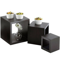Cal-Mil 1915-96 5 inch, 7 inch, and 9 inch Midnight Wooden Cube Riser Set