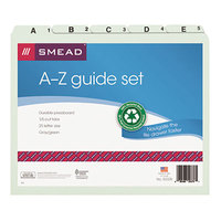 Smead 50376 8 1/2 inch x 11 inch Recycled Top Tab 1/5 Cut Pressboard File Guide - Letter