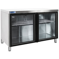 Nor-Lake NLURG48A-013 AdvantEDGE 48 inch Undercounter Refrigerator with 6 inch Legs and Glass Doors