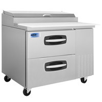 Nor-Lake NLPT44-001 AdvantEDGE 44 1/2 inch 2 Drawer Refrigerated Pizza Prep Table