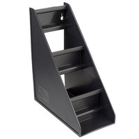 Vollrath 4830-06 Traex® Black Self-Serve 3-Tier Condiment Holder Stand with Clips