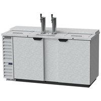 Beverage-Air DD68HC-1-C-S 2 Single Tap Club Top Kegerator Beer Dispenser - Stainless Steel Front, (3) 1/2 Keg Capacity