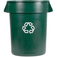 Rubbermaid 1788472 BRUTE 32 Gallon Dark Green Recycling Can