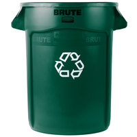 Rubbermaid 1788472 BRUTE 32 Gallon Dark Green Recycling Can