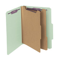 Smead 14076 SafeSHIELD Letter Size Classification Folder - 10/Box