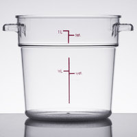 1 Qt. Clear Round Food Storage Container