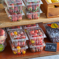 1 Pint Vented Clamshell Produce / Berry Container   - 480/Case