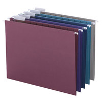 Smead 64056 Designer 8 1/2 inch x 11 inch Assorted 1/5 Cut 11 Pt. Stock Hanging File Folder - Letter - 25/Box