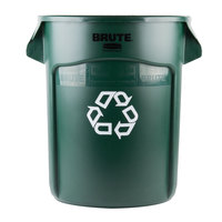 Rubbermaid 1926828 BRUTE 20 Gallon Dark Green Recycling Can