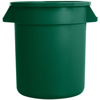 Carlisle 34101009 Bronco 10 Gallon Green Trash Can