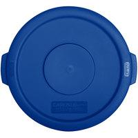 Carlisle 34101114 Bronco 10 Gallon Blue Flat Trash Can Lid
