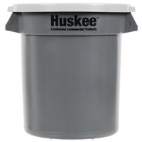 Continental Huskee 10 Gallon Gray Trash Can with Gray Lid
