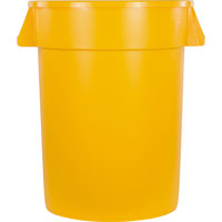 Carlisle 34103204 Bronco 32 Gallon Yellow Trash Can