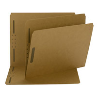 Smead 14813 Letter Size Fastener Folder with 2 Fasteners - Straight Cut Tab, Kraft - 50/Box